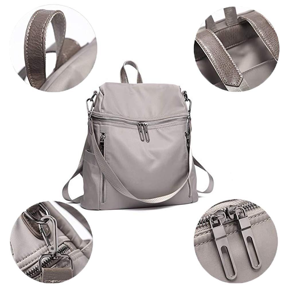 Women Backpack Purse Lightweight Fashion Canvas Ladies Handbag School Shoulder Bag Waterproof Travel Rucksack (gray) by XMeng (Image #6)