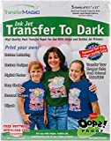 "Transfer Magic FXTD-5 Ink Jet Paper for Dark Fabric (5 Pack), 8.5"" x 11"""