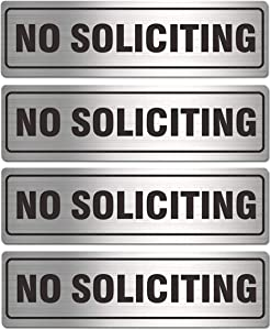 No Soliciting Sign for House Door 7.0