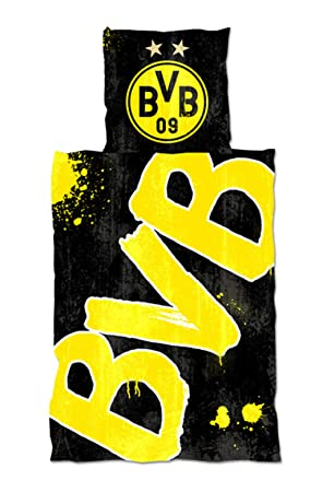 Borussia Dortmund Bettwäsche Glow In The Dark 135x200cm Inkl