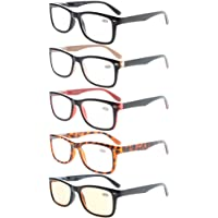Eyekepper 5-Pack Classic Spring-Hinges Quality Reading Glasses Include Computer Readers +2.25