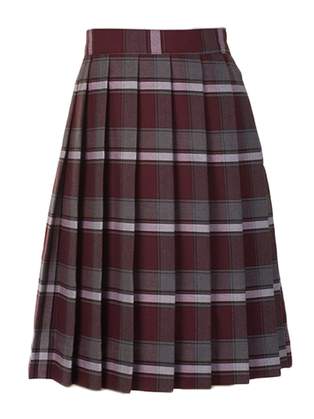 Cookie's Brand Big Girls' Pleated Skirt - burgundy/gray/whiteplaid #91, 18