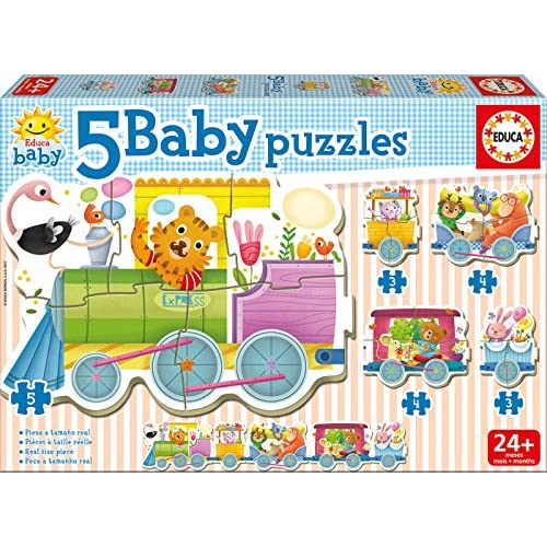 Educa Borras 17142.0 - Baby Puzzle - Train Des Animaux