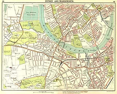 London Sw Map.London Sw Putney Wandsworth Fulham Barnes Parson S Green Roehampton