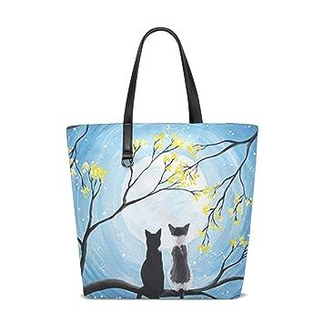 Amazon.com: Bolsas de la compra para gato y luna ...