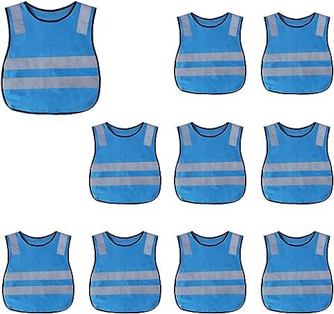 Safety Vest Preschool Uniforms-Blue-M GOGO Child Reflective Vest for Outdoors Sports