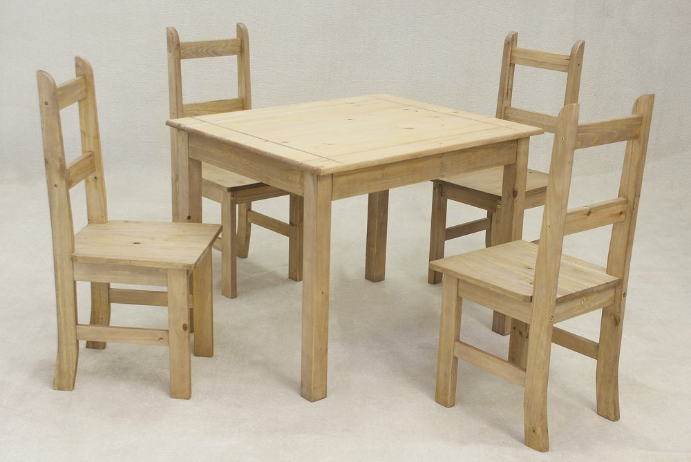 Coba Mexican Dining set. Table & 4 chairs.