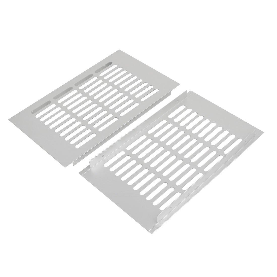 sourcingmap 2pcs 250mmx150mm alliage aluminium persienne A/érateur Grille ventilation