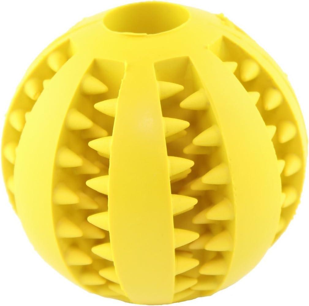 bola del juguete perro interactivo seguro y no t/óxico limpieza bola 7 cm. Caucho natural para mascotas masticando la bola