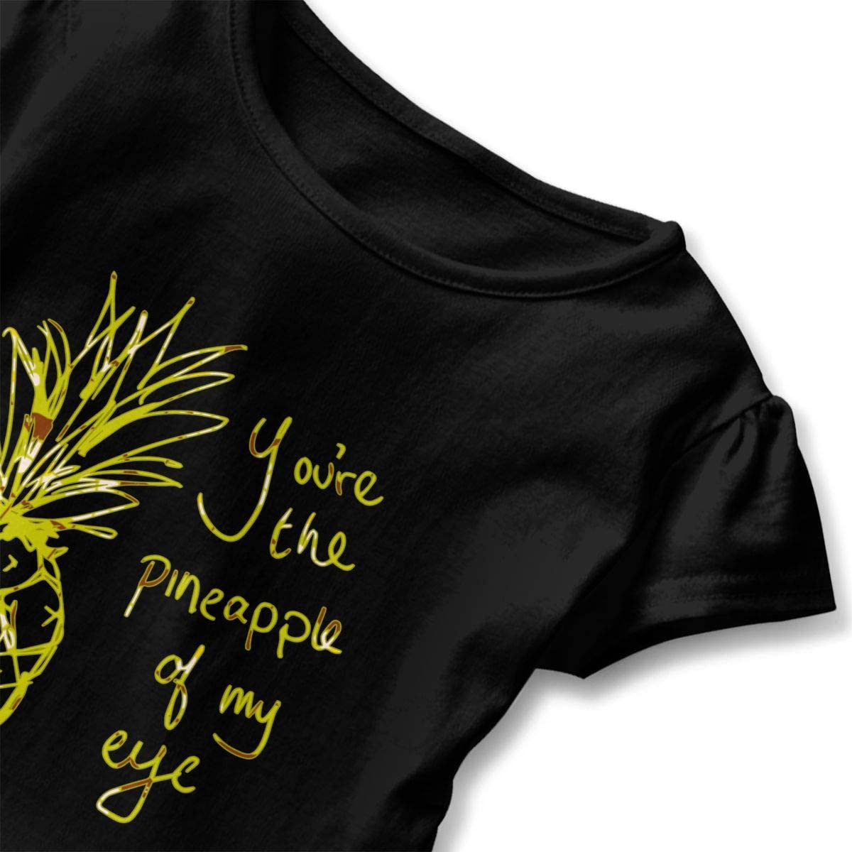 You are The Pineapple of My Eye Toddler Girls T Shirt Kids Cotton Short Sleeve Ruffle Tee