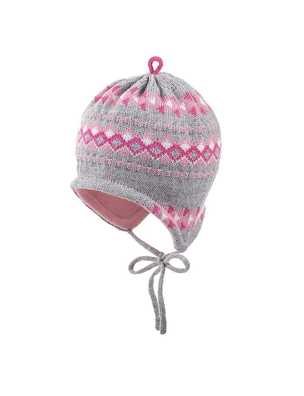 maximo Baby-Mädchen Mütze Ausgenäht mit Muster Bindeband 75571-343500