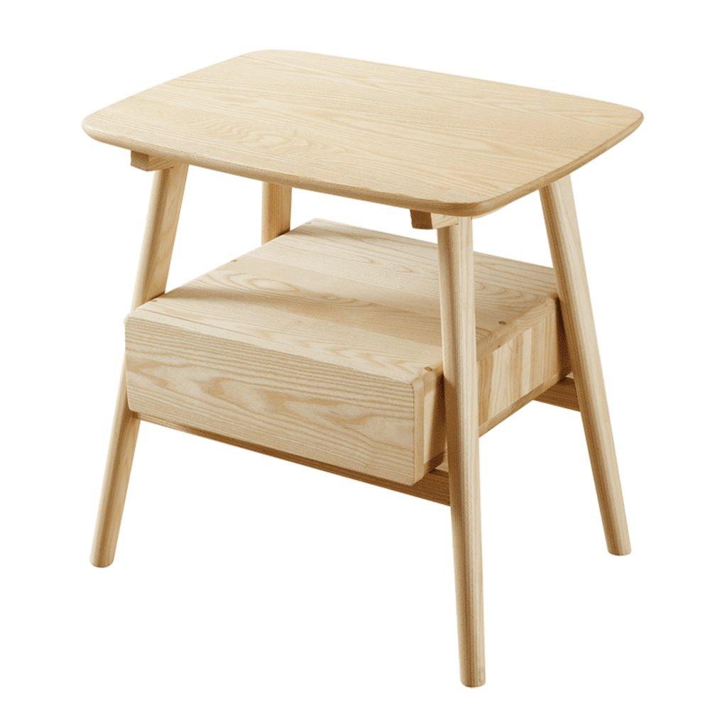 ナイトテーブル ソリッドウッドロッカーベッドルームのナイトスタンドベッドサイドキャビネット環境にやさしい家具(60 * 45 * 60センチメートル) B07L9KXDRW