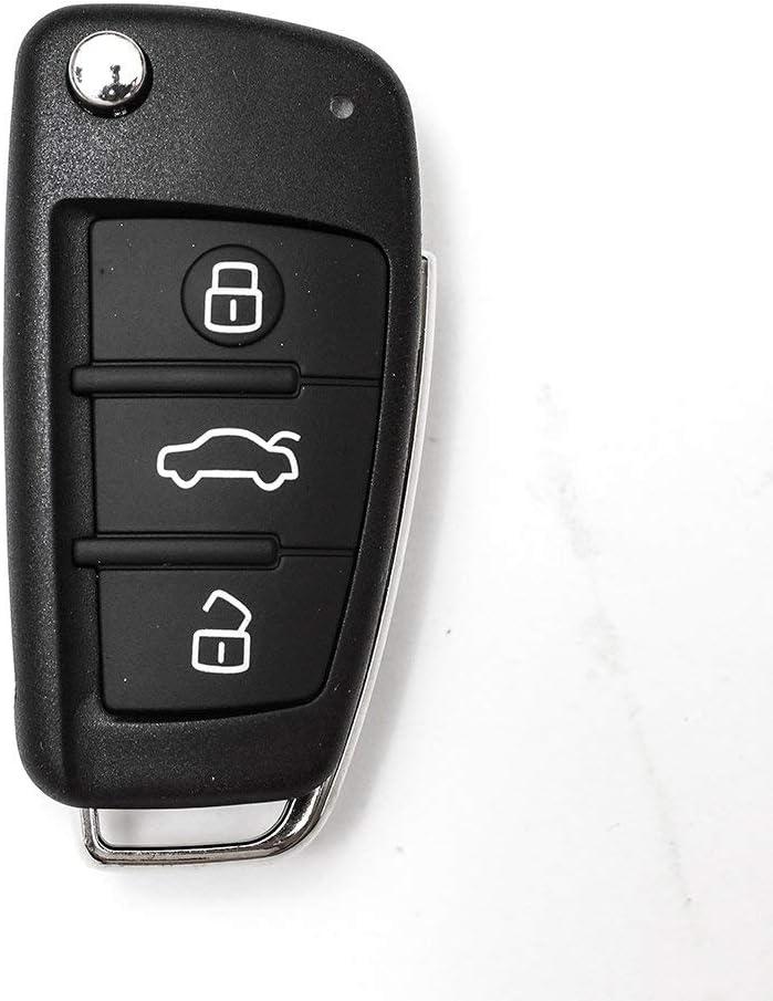 RS3 R8 SL A6 A4 Q3 S3 TT A3 Guscio Portachiavi Accessori Ricambi Cover Copri Chiave Telecomando Auto 3 Tasti Compatibile Con Audi A1 Q5 A8 A6L Q7