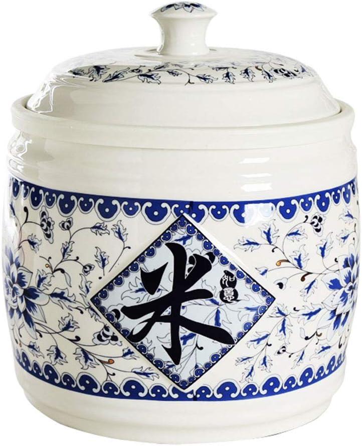 Kitchen Ceramic Rice Bucket Moisture-Proof Storage Rice Box//Flour Bucket//Grain Container