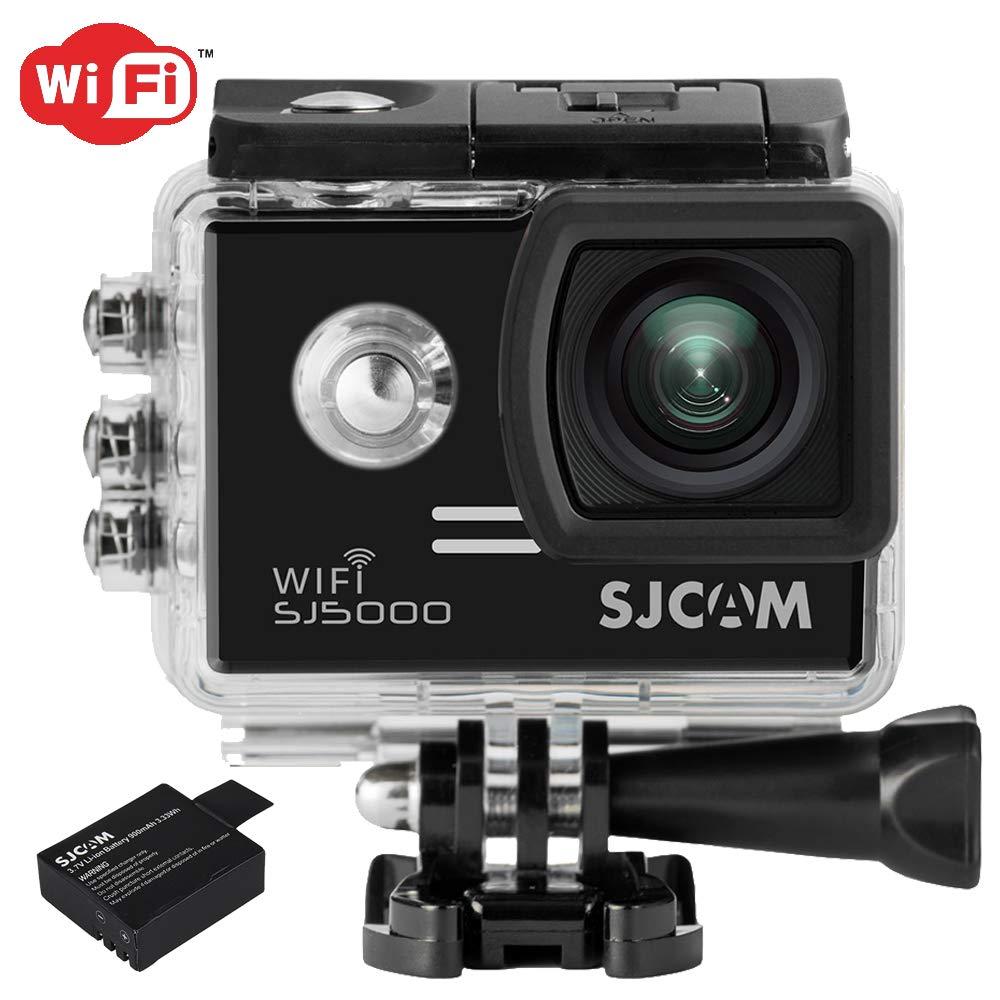 SJCam SJ5000 WIFI (versión española) - Videocámara deportiva (LCD 2.0, 1080p 30 fps, sumergible hasta 30m) color negro