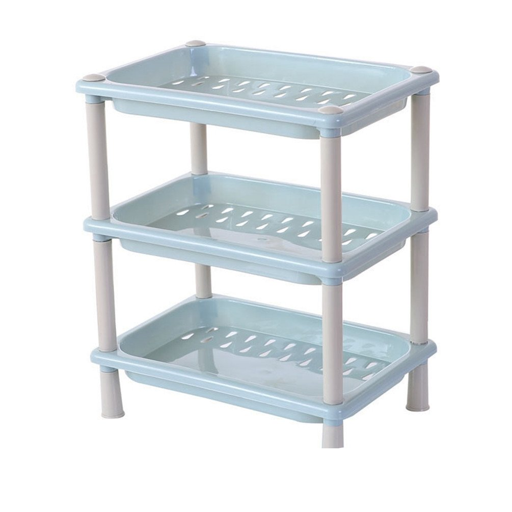 Amazon.com: Haotfire Plastic Shelf Bathroom Storage Shelves 3 Tier ...