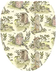 Toilet Tattoos TT-LS04-O Outhouse Toile Decorative Applique for Toilet Lid, Elongated