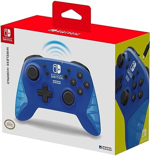 HORI - Horipad inalámbrico azul (Nintendo Switch): Amazon.es ...