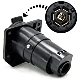 Dolity Blade 7 Way Plug Connector for Trailer RV