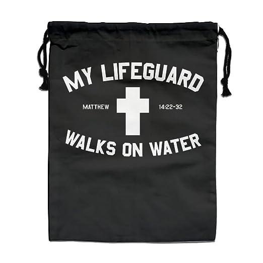 Diseño de la Cruz cristiana Lifeguard cordón bolsa saco ...