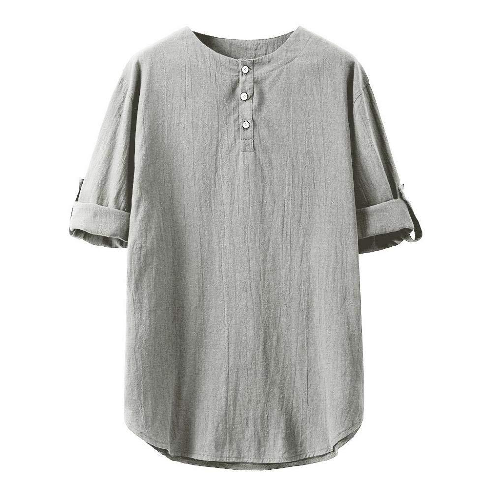 Firally Maglietta Tinta Unita Uomo,Slim Fit Elegante Pulsanti Estate Casual Tops Maglietta da Lavoro Uomo Pullover Polo Shirt Maglietta