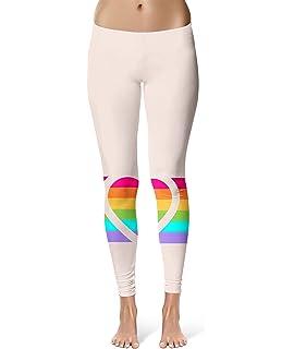 Rainbow Rules Fastpass Sport Leggings Capri Length Mid//High Waist White