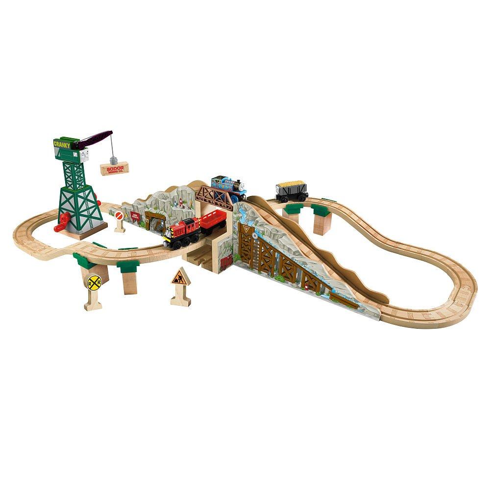 ラーニングカーブ きかんしゃトーマス 木製レールシリーズ ゴールドマイン マウンテン セット 09986 B0009EFYNA