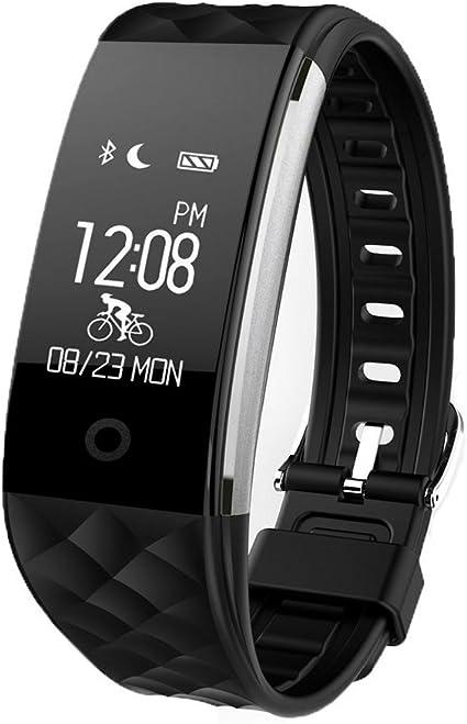 Redlemon Smartwatch Pulsera Inteligente Deportiva con Podómetro Monitor Cardiaco Contador de Calorías y Distancia Notificación de Llamadas Redes S