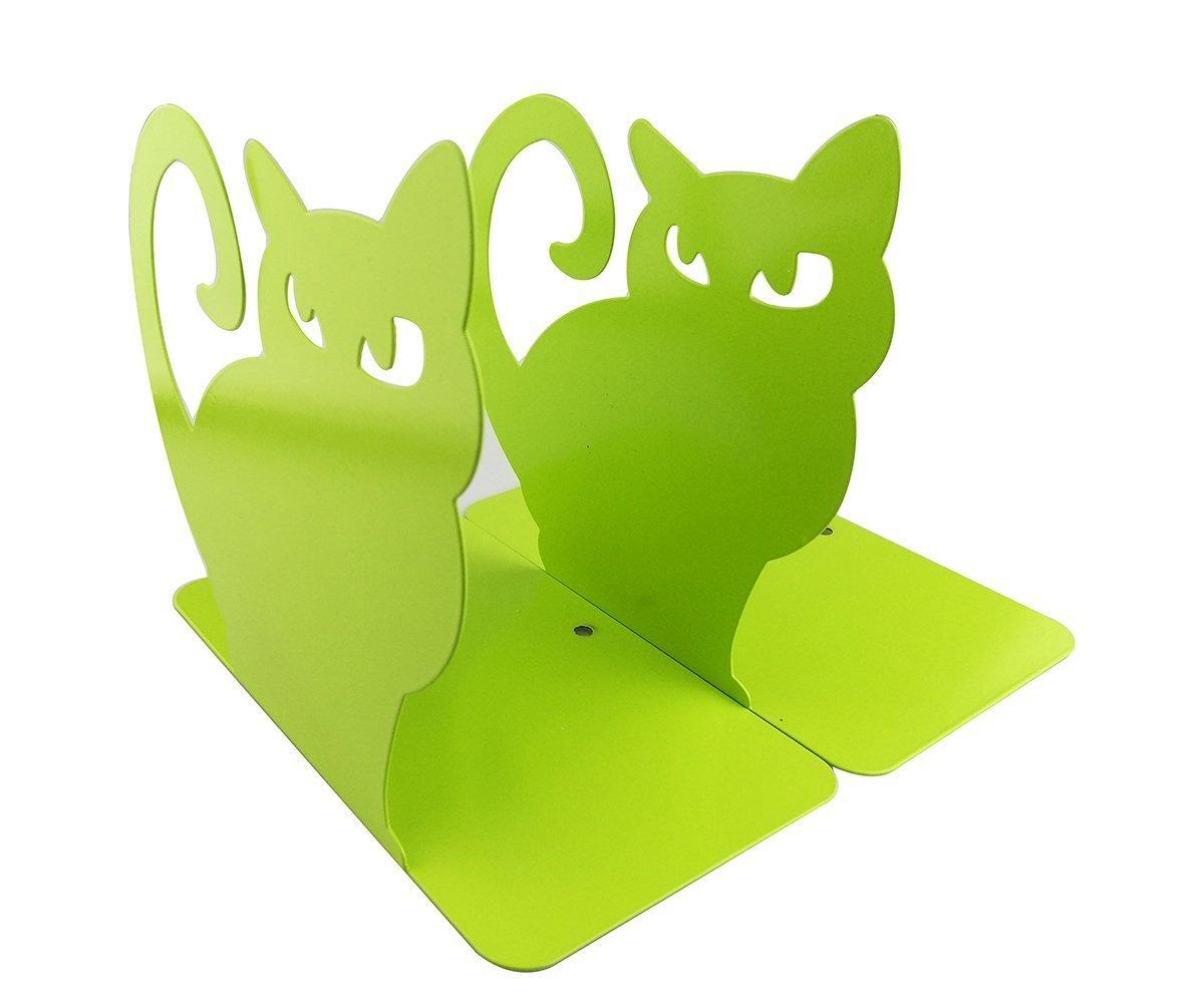 1/paire vives Lovely Chat persan Serre-livres pour /étag/ères Cat Statue Serre-livres d/écoratifs Animal en m/étal Serre-livres Noir