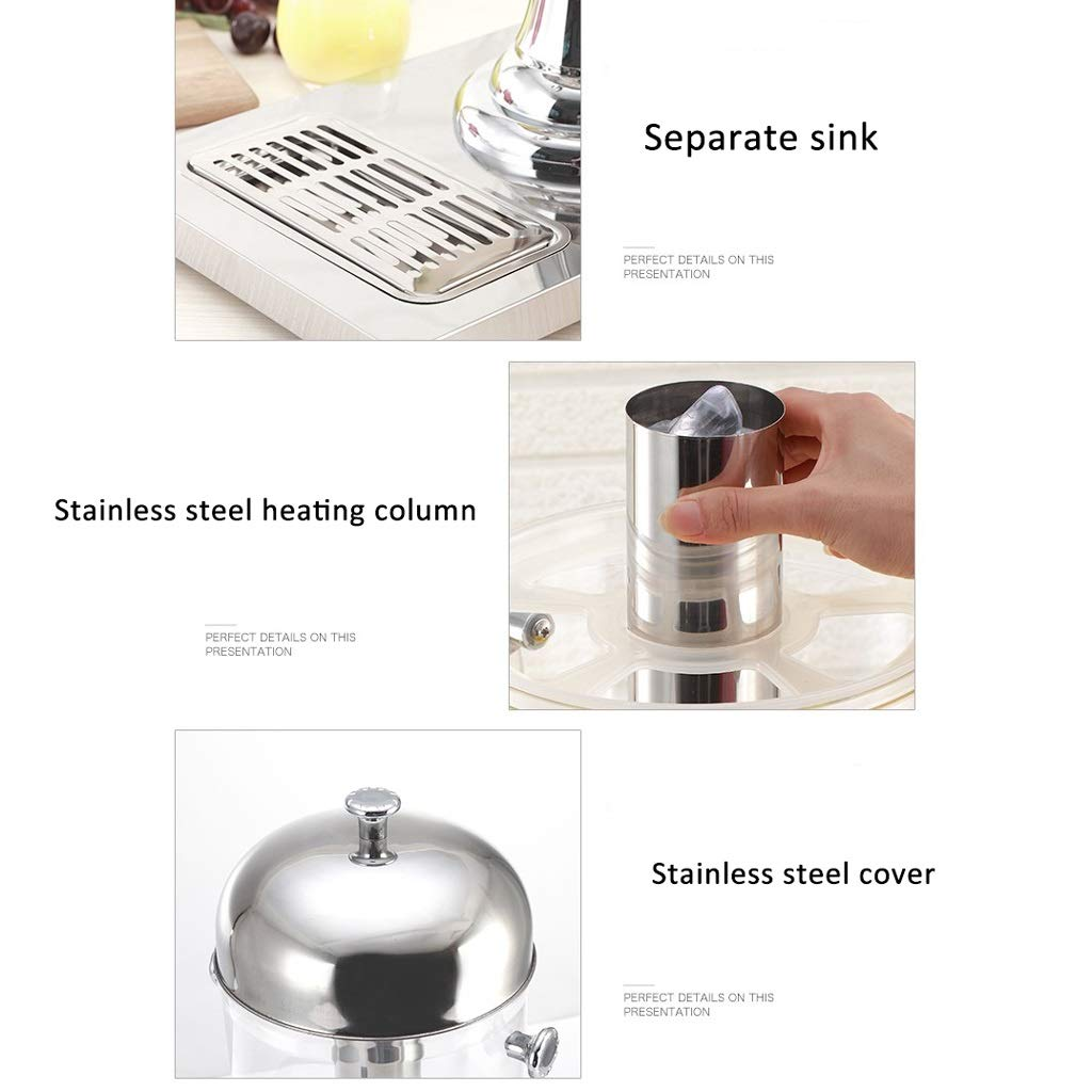 Commercial Juice Crock Hotel Buffet Drink Machine Western Restaurant Transparent Single Double Cylinder Juice Cylinder With Faucet Cold Drink Machine XINYALAMP Color : Gold, Size : A