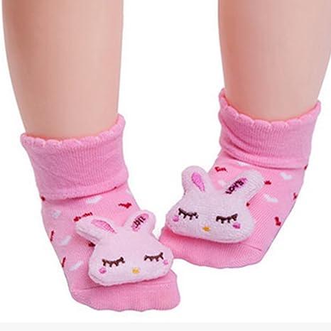 Calcetines antideslizantes para bebé con muñeca para recién nacido ...