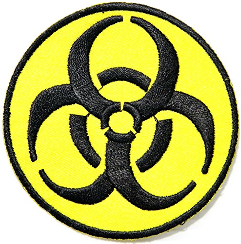 [Biohazard Symbol Zombie Danger Peace Logo Miltary Army Jacket T-shirt Patch Sew Iron on Embroidered Sign Badge] (Biohazard Costumes)