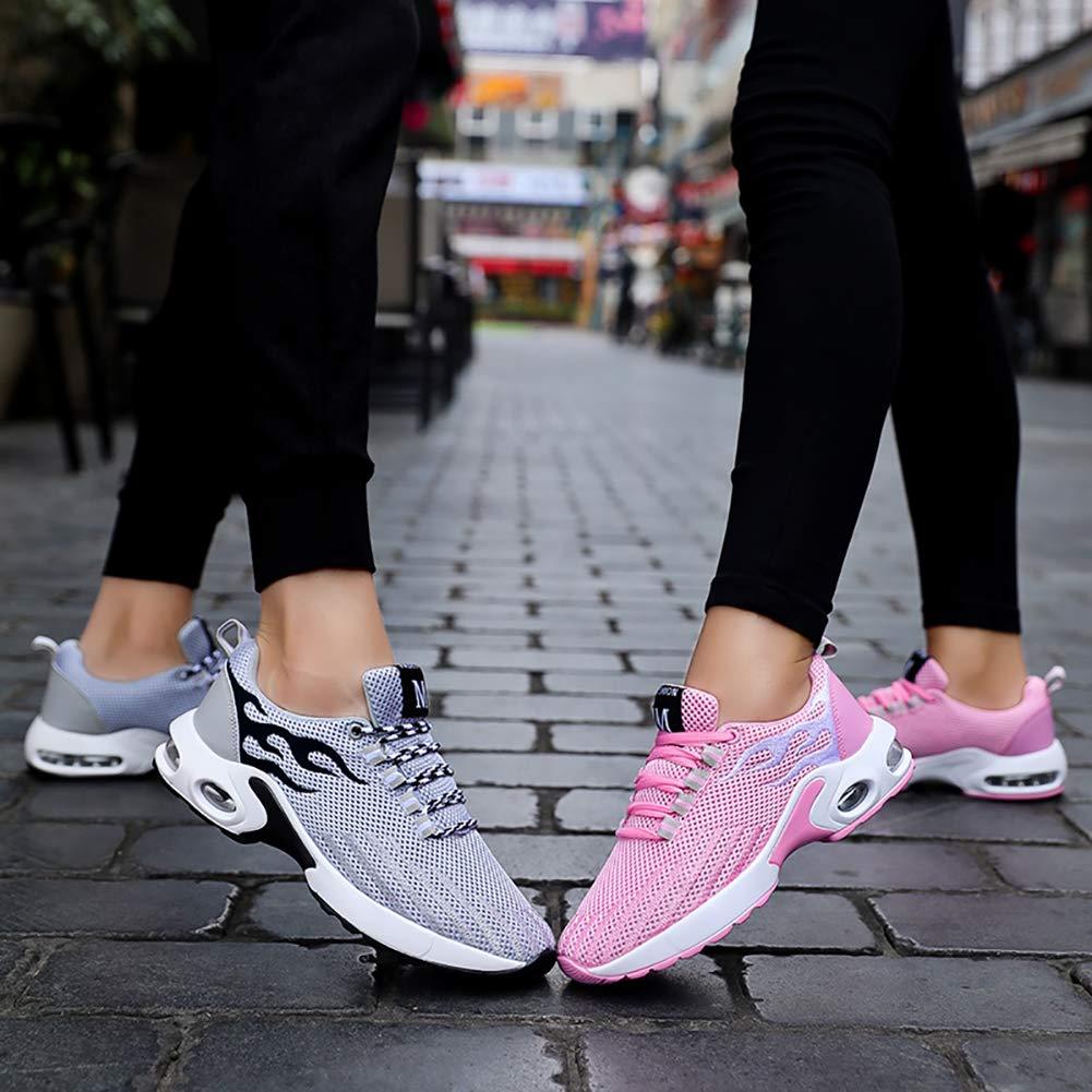 KUIBU Women Men Lightweight Sport Breathable Slipon AirCushion Toning Shoes Mesh Running Sneaker Athletic