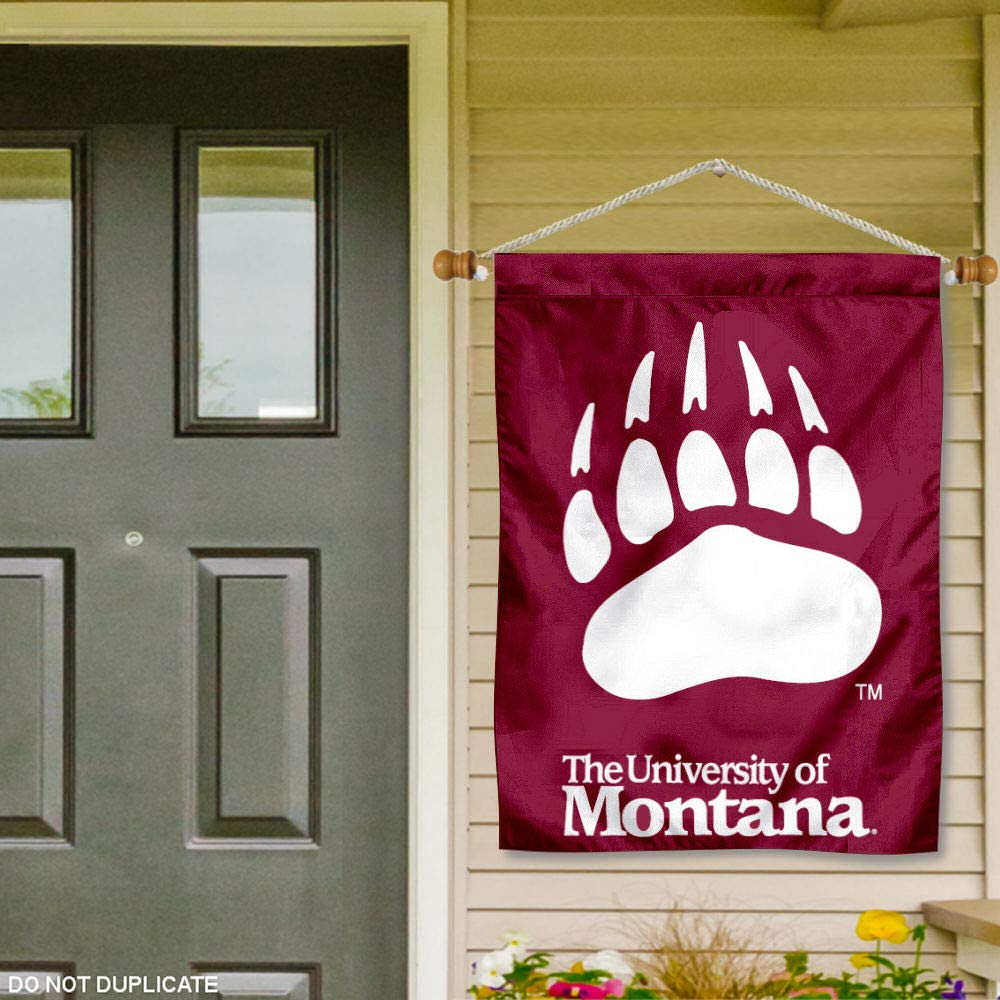 College Flags and Banners Co Montana Grizzlies Banner with Hanging Pole