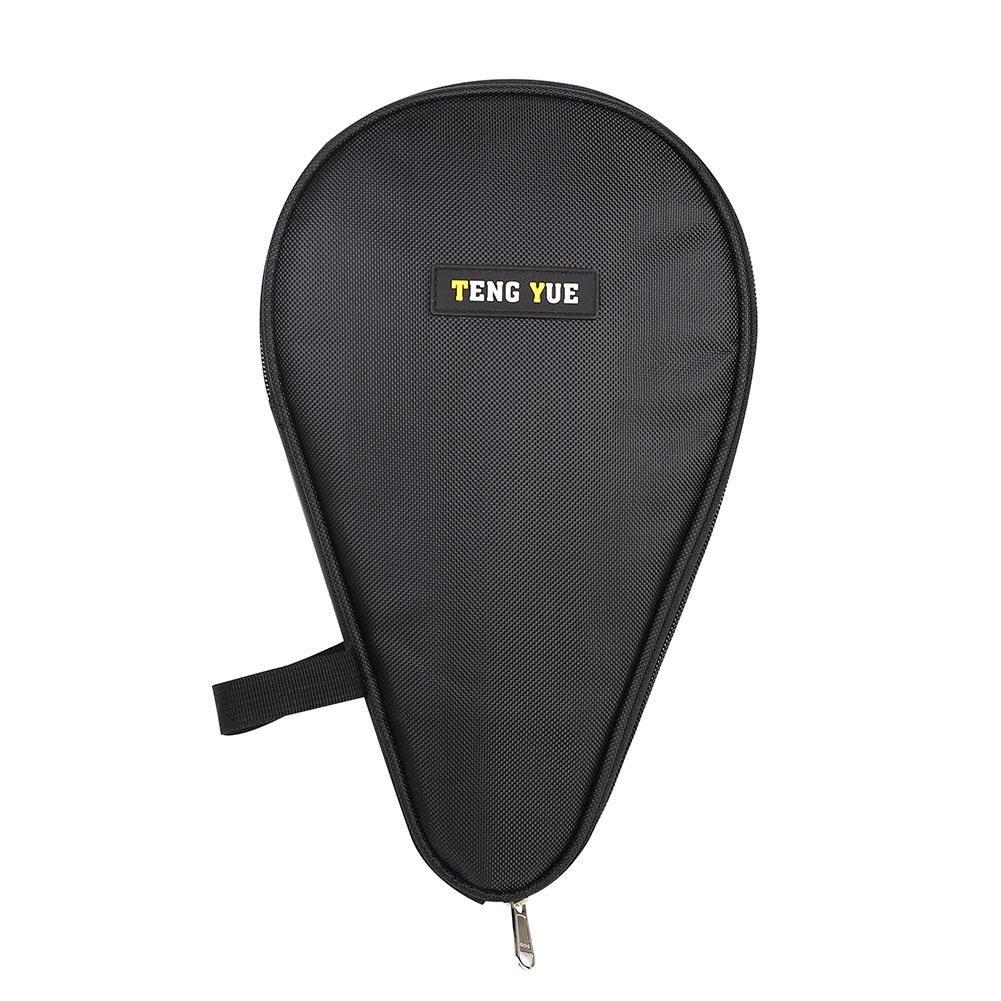 vgebyテーブルテニスパドルケース、オックスフォードPing Pong Racketカバーwith Backボールボーナスストレージポケット B07C14J9HJ ブラック ブラック
