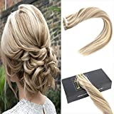 Sunny 14inch Remy Hair Extensions Tape In Golden Blonde Mixed Medium Seamless