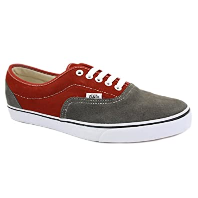 5ae78f7458e9 Vans Suede Lo Pro Era JK66DU Mens Laced Suede Trainers Pewter Burnt Henna -  11