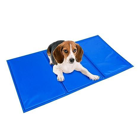 BIGWING Style-Manta Refrigerante para Mascota Perro Gato Humano Alfombrilla Refrescante Impermeable Plegable Anti-