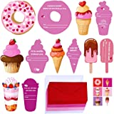 Supla 30 Sets Valentine's Day Cards Scratch Sniff Strawberry Scented Valentine Cards Donut Ice Cream Cupcake Sweet Cards…