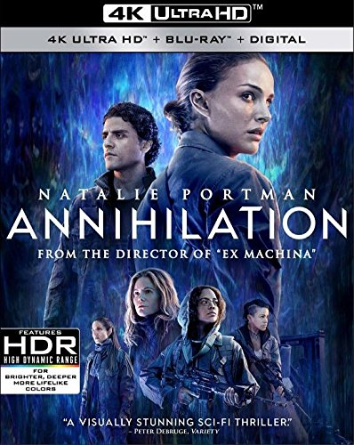 Amazon Com Annihilation 4k Uhd Blu Ray Blu Ray Digital Hd Movies Tv
