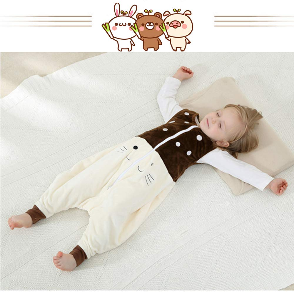 My Sky Unisex Baby Sleeveless Romper Flannel Pajamas Wearable Blanket with Legs