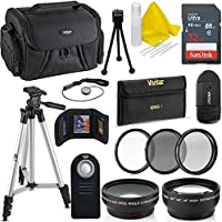 Professional 52MM Accessory Bundle Kit For Nikon D3300 D3200 D3100 D5000 D5100 D5200 D5300 D5500 D7000 D7100 D7200 & DSLR Cameras , 15 Accessories for Nikon