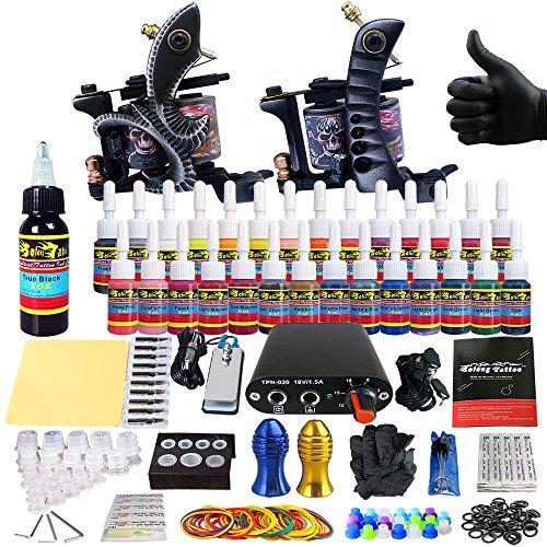 Solong tattoo beginner tattoo kit machine for starter 2 for Starter tattoo kits