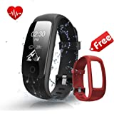 Fitness Tracker Watch with Replacement Band ,Bonebit Waterproof Smart Bracelet for Women Men Kids with Heart Rate Monitor Multiple Sports Mode GPS Running Watch for Android &iOS Phone