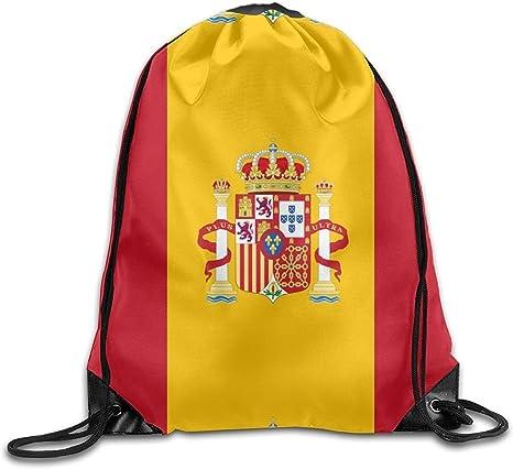 Vilico Bandera Española Cool Gym Cordón Bolsas de Viaje Mochila de Escuela Mochila: Amazon.es: Deportes y aire libre