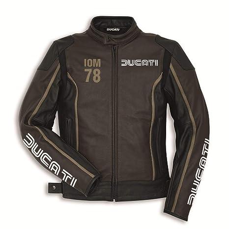 Ducati 9810410 Hombre Moto Chaqueta Piel Sport Racing iom 78 C1 50