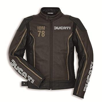 Ducati 9810410 Hombre Moto Chaqueta Piel Sport Racing iom 78 C1 50: Amazon.es: Coche y moto