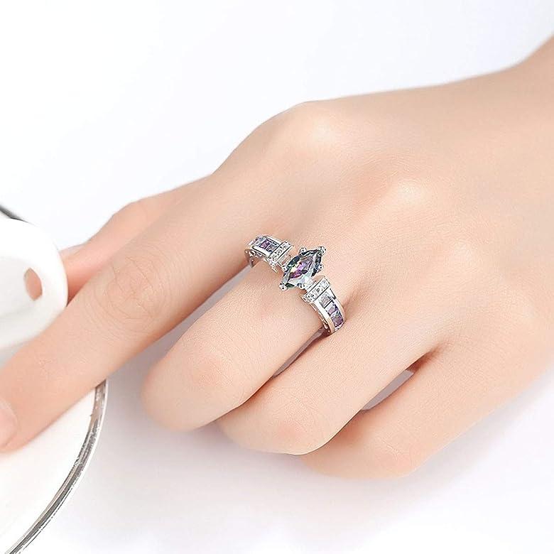 Mibuy Anillo Mujer,Diamantes De Imitación Anillos De Compromiso ...