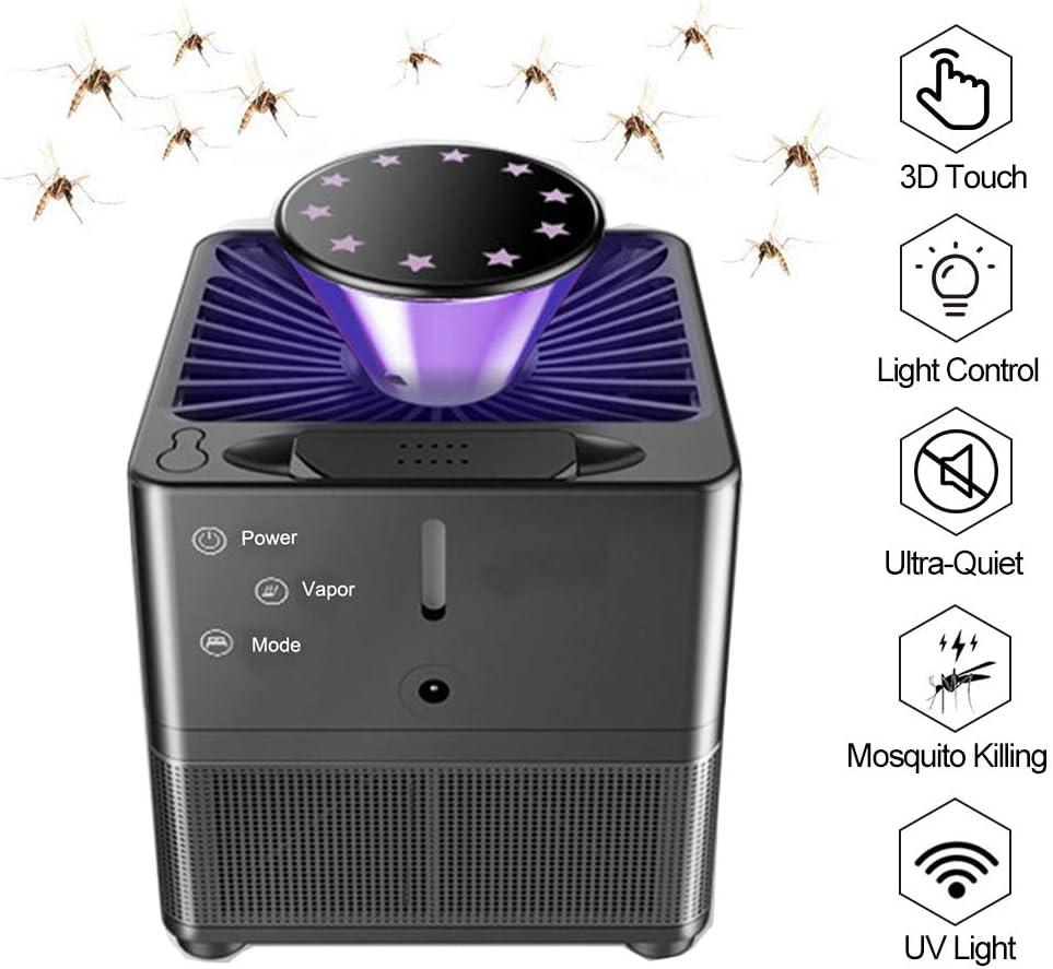 Yeelan Electric Mosquito Killer Lamp Insect Killing Lámparas Bionic Trap con Control de luz UV LED, Bug Zapper con USB Power 3D Touch y Ventilador succión para el Interior Casa Interior Casa