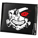 Tokyo Ghoul Kaneki Ken Mask Anime Cosplay Unisex Students Purse Wallet Black